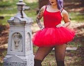 Red tutu, 8 layers, adult tutu, devil costume, halloween tutu, race tutu, tulle skirt, ANY COLOR