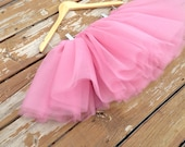 Adult/ Teen Tutu- bachelorette party- dusty rose tulle skirt, any length- pink tutu
