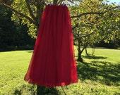 Red Chiffon skirt, any length and color Bridesmaid skirt, floor length, tea length, knee length empire waist chiffon skirt