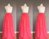 AZALEA Chiffon Skirt, any length and color Bridesmaid skirt, floor length, tea length, knee length empire waist chiffon skirt