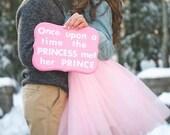 Tulle skirt- adult tutu, pink tutu- pink tulle skirt- Adult Bachelorette or engagement tutu, photography prop, bridesmaid tutu
