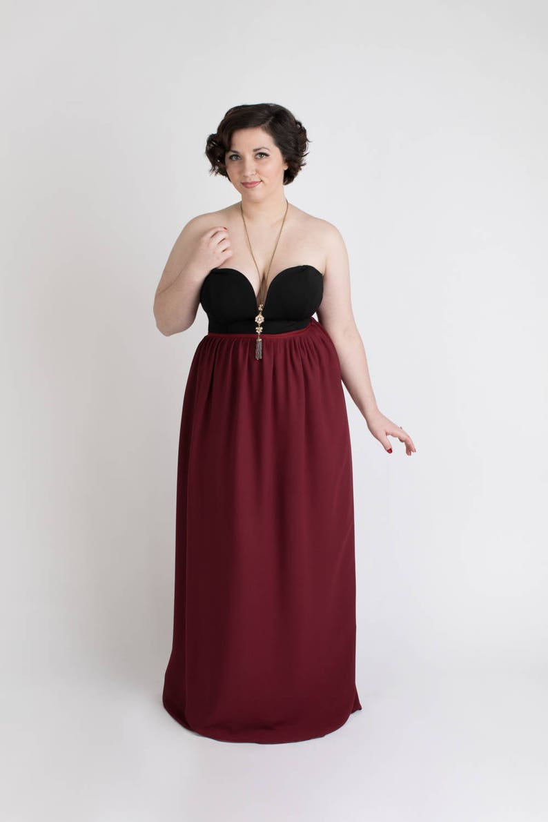 3256a3d7a380 WINE georgette wrap skirt maxi skirt. Chiffon bridesmaid