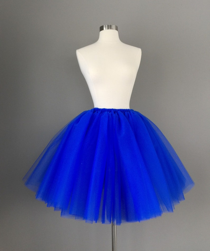 3b9c150f32 Adult royal blue tutu adult tulle skirt cobalt tutu any size | Etsy