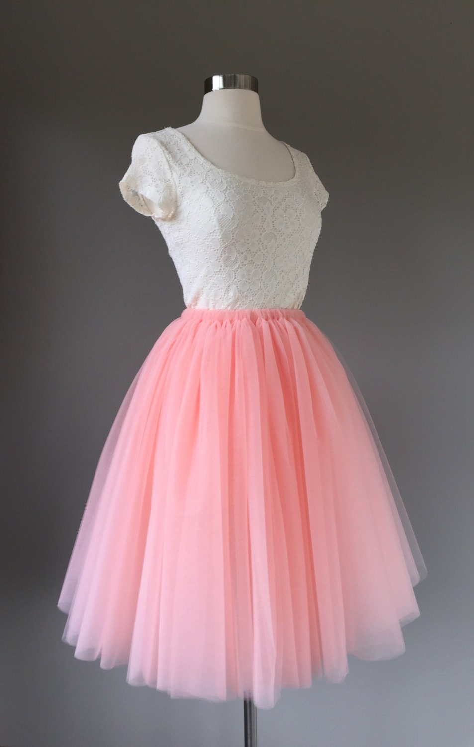 Tulle Skirt Adult Tutu Blush Tutu Tulle Skirt Peach Tulle