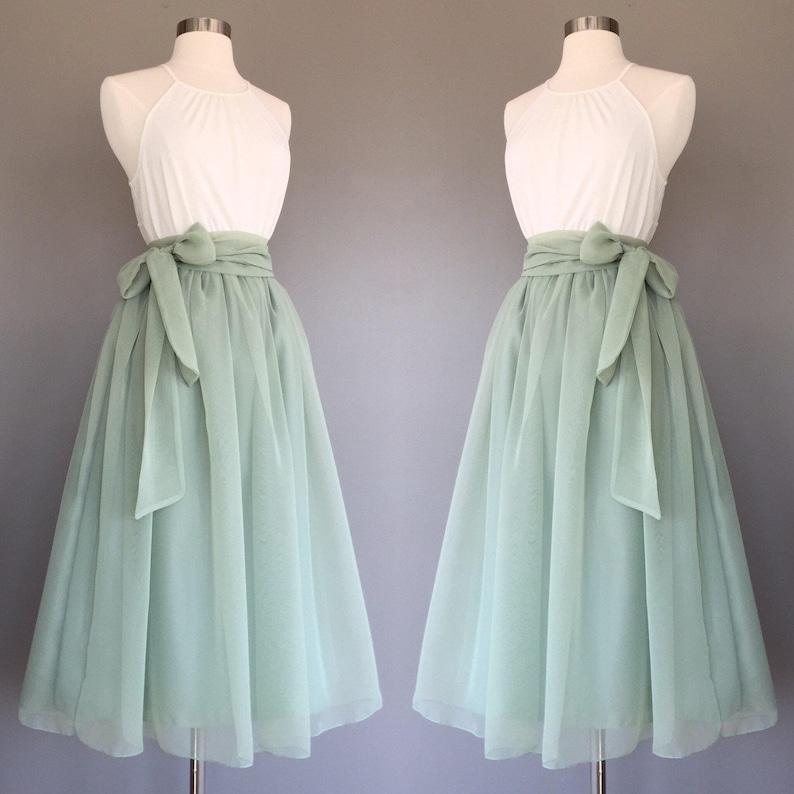 Sage Green Floor Length Dress