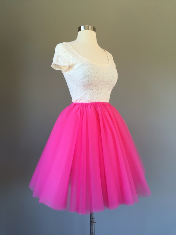 Bulk Tulle for DIY Tutu HOT PINK Tulle Bolt #124 Bright Pink Wholesale Tulle Fabric Barbie Pink Tulle Roll Prom Dress Women Tulle Skirt