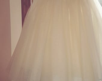 Tulle skirt-adult-lined-bachelorette tutu- ivory, any color