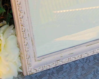 Distressed 8.5x11 ornate wood diploma frame, Pink & gold document frames, Shabby cottage chic gallery wall home office decor, Gifts for her