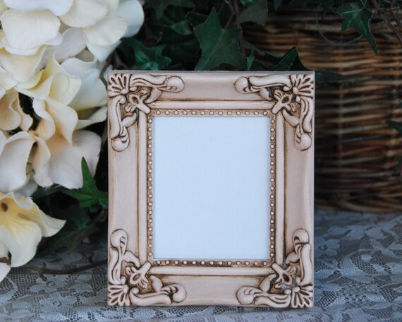 Small Ornate Picture Frame Blush Pink Frame Painted Photo Etsy