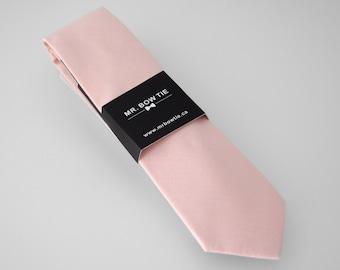 Pastel Pink Neck Tie (145B) Neckties, Mens Neck Tie, Necktie, Pink Neck Tie, Pink Necktie, Pink Ties, Pink Wedding Ties
