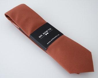 Rust Neck Tie (105B) Neckties, Mens Neck Tie, Necktie,Rust Neck Tie, Rust Necktie, Red Ties, Rust Wedding Ties