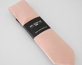 Blush Pink Neck Tie (195B) Neckties, Mens Neck Tie, Necktie, Blush Pink Neck Tie, Pink Necktie, Blush Pink Ties, Blush Pink Wedding Ties
