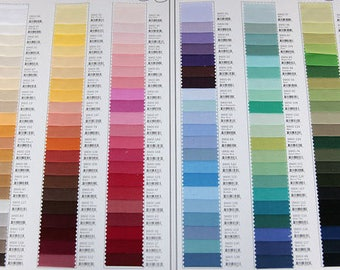 Fabric Swatch - Solid Colours Only for Bow Ties/Suspenders -  Blues/Greens/Grays/Black/White/Browns/ Gold/ Tans/Rusts