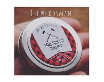 Beard Balm/The Woodsman/Clove & Patchouli/Beeswax Balm/Shea Butter/Essential oils/Beast/Beard/Tame Your Fur/Beard Salve/Wax it/Furry