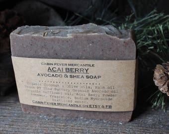 Soap / Acai Berry Soap / Fruity Soap / Natural Soaps / Rustic Soaps / Shea Butter Soap / Avocado Oil Soap / Body Bar / Spa / Bath and Body