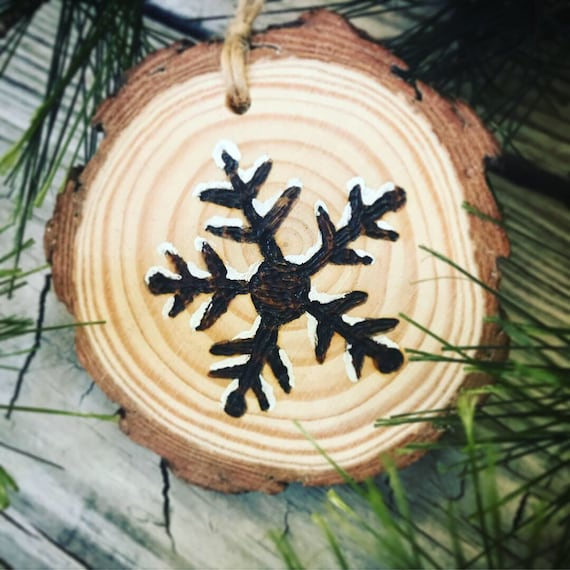Ornament/Lake City Colorado/Snowflake/Wood Burning/Wood Disc/Wooden Christmas Ornament/Made In Colorado/Handmade/Rustic/Cabin Christmas
