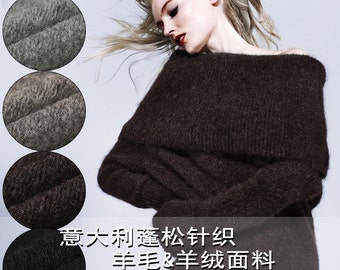 145CM Wide 320G/M Weight Stretch Knitted Cashmere Wool Autumn and Winter Overcoat Outwear Fabric Sveral Colors Available E263