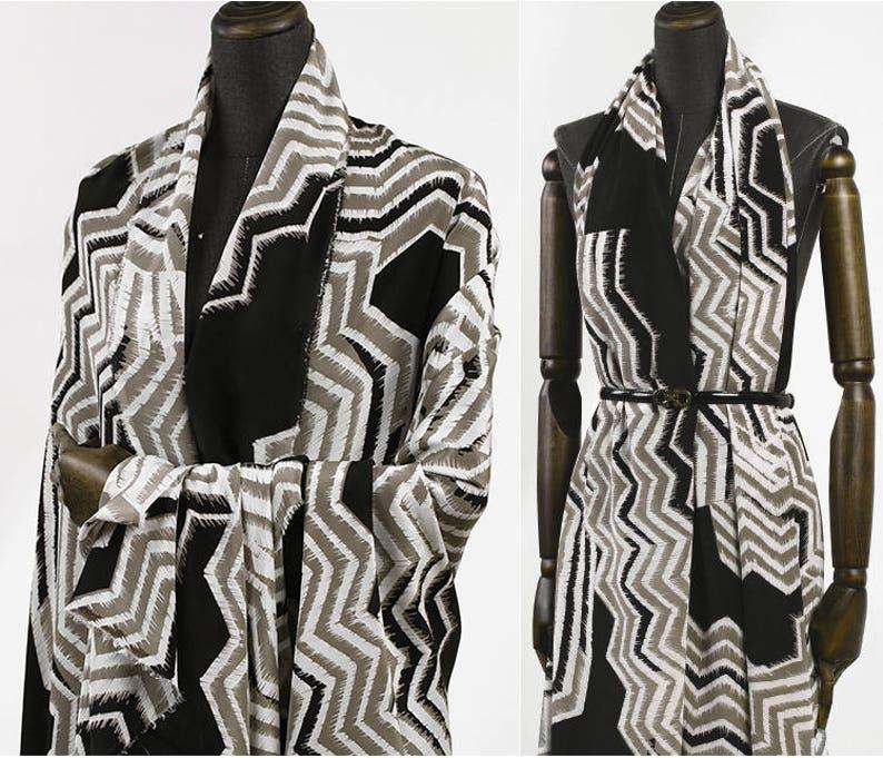 110CM 16MM Geometry Print Colorful Silk Crepe De Chine Fabric for Summer Dress Shirt E456