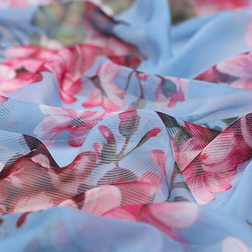 Doux Mince Imprimé Bambou Floral Large 145cm Fibre Tissu qVSMUzpG