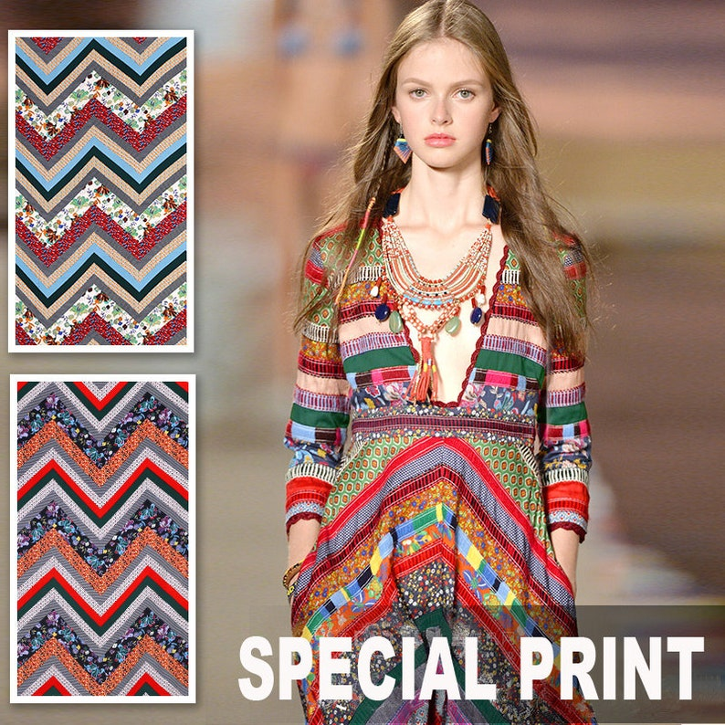 140CM Wide 280GM Weight Specail Print Viscose /& Polyester Fabric for Spring and Summer Dress Shirt Clothes E310