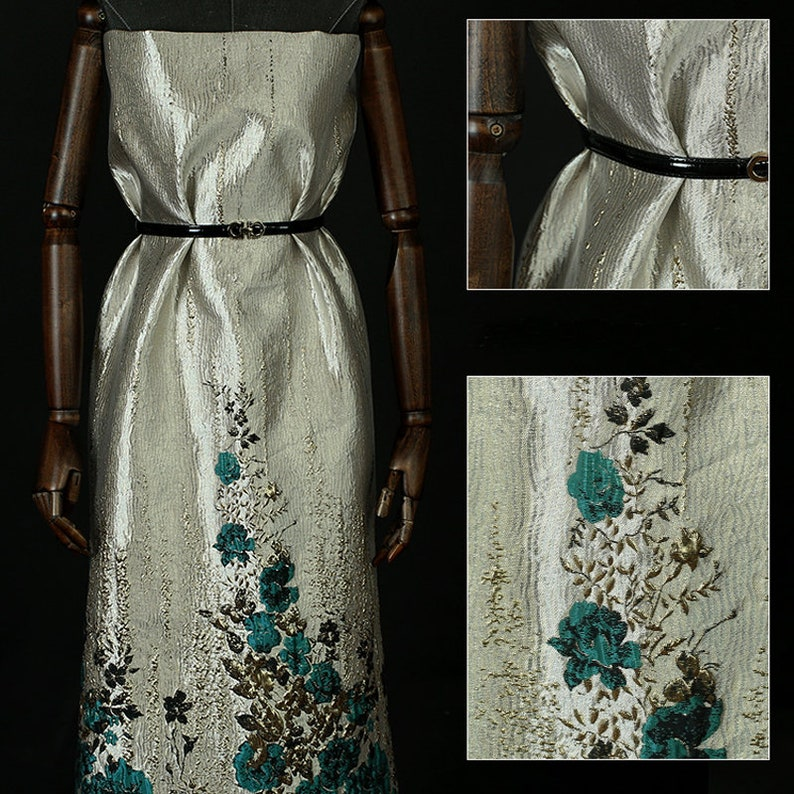 140*150CM Wide 280GM Weight BlueJacquard Acrylic Polyester Autumn Spring Dress Jacket Suit Fabric E880