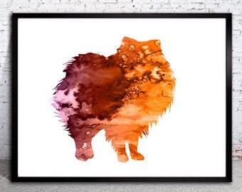 Pomeranian Print, Pomeranian art, watercolor, Home Decor, dog watercolor, watercolor painting, animal watercolor, dog painting