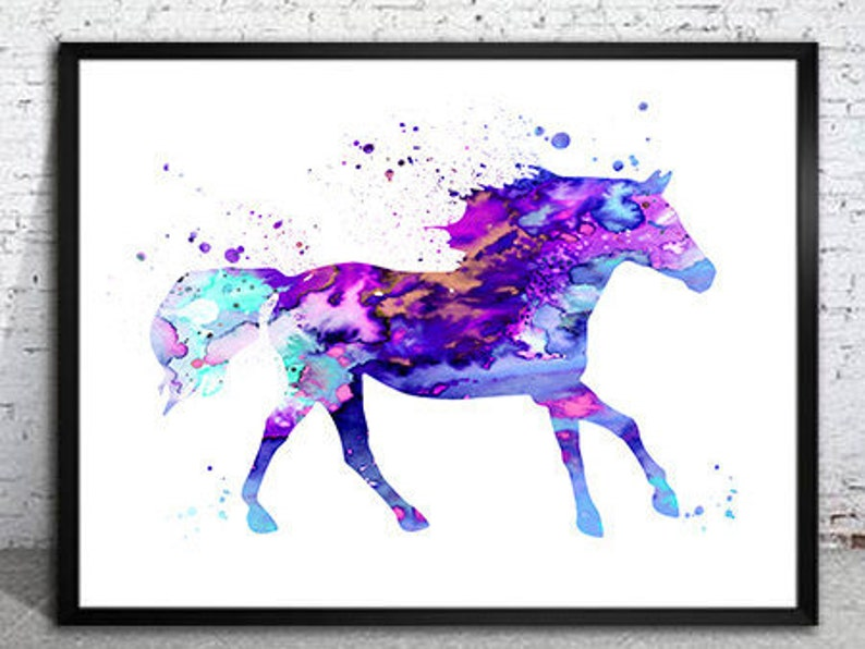 Illustration,home decor Horse poster Horse 6 Watercolor Print watercolor art watercolor animal watercolor painting Horse print