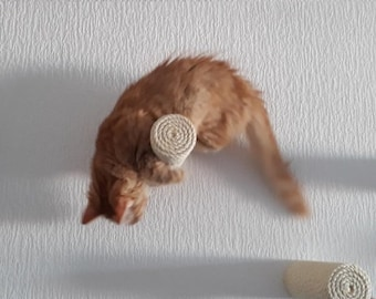 Sisal Climbing Step, Wall Post Stairs for Cats, Catwalk