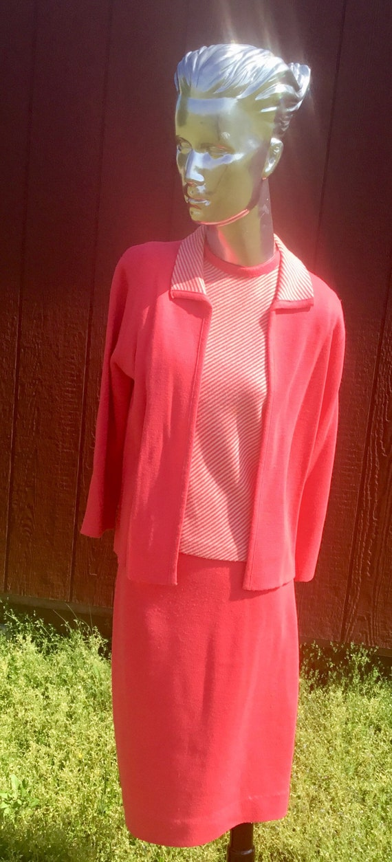 1950s Suzy-Dee Fashion Double Knit; Cardigan, Tank