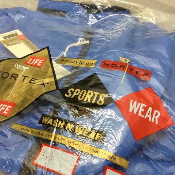 1960s NORTEX Sportswear Size L Blue Waterproof Coa