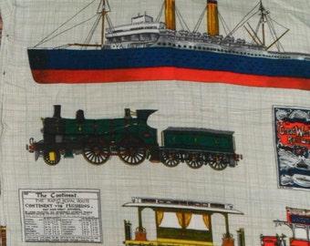 Vintage Travel Cotton Fabric