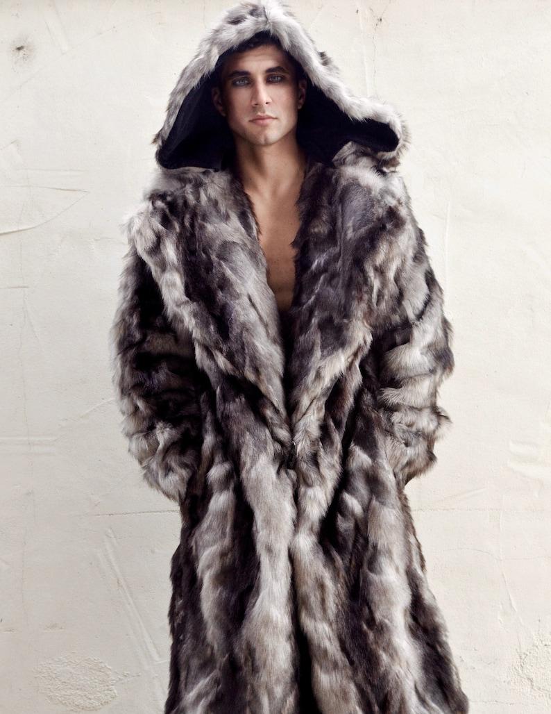 cc4df4a9f982 Men s Faux Fur Vandal Coat in Gray Wolf
