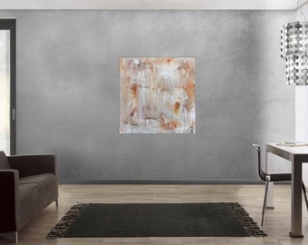 Original abstract artwork on canvas ready to hang 100x100cm #806