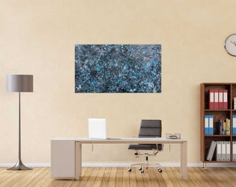 Original abstract artwork on canvas ready to hang 80x130cm #832