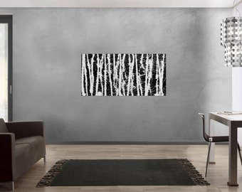 Original abstract artwork on canvas ready to hang 70x140cm #650