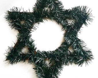 "20"" Jewish Star Wreath, Ready to Ship --- Judeo-Christian home decor"