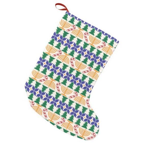 Hanukkah Christmas Stocking.Chrismukkah Stocking Hanukkah Christmas Interfaith Holidays