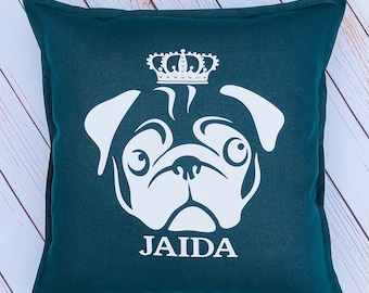 Personalised pug cushion,pug, pug cushion, birthday gift, gifts for the home, new home, home decor