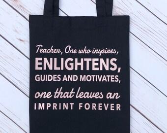 Teacher gift, Teacher tote bag, Tote bag, End of year gift, Gifts for teacher, Best teacher