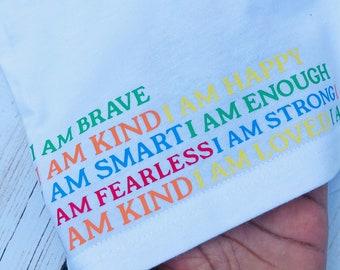 Children's T-shirt, Inspirational T-shirt, Affirmations, Kids T-shirt, Positive clothing, Clothing for kids