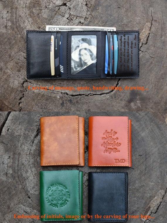 baa712070447f Men s Leather wallet  Trifold Wallet   Personalized