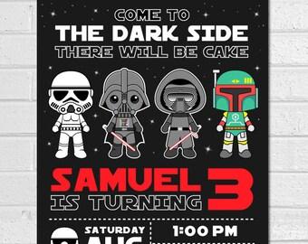 STAR WARS Invitation   Disney Star Wars Stormtrooper Invite, Editable Text  PDF Birthday Party Invitation