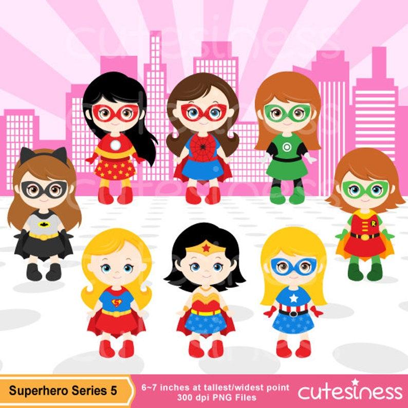 Superhero Girl Digital Clipart Superhero Girl Clipart Girl ...