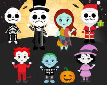 HALLOWEEN Digital Clipart, Halloween Clipart