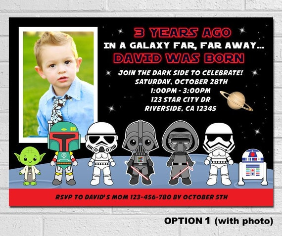 95 Star Wars Custom Birthday Invitations Star Wars Birthday