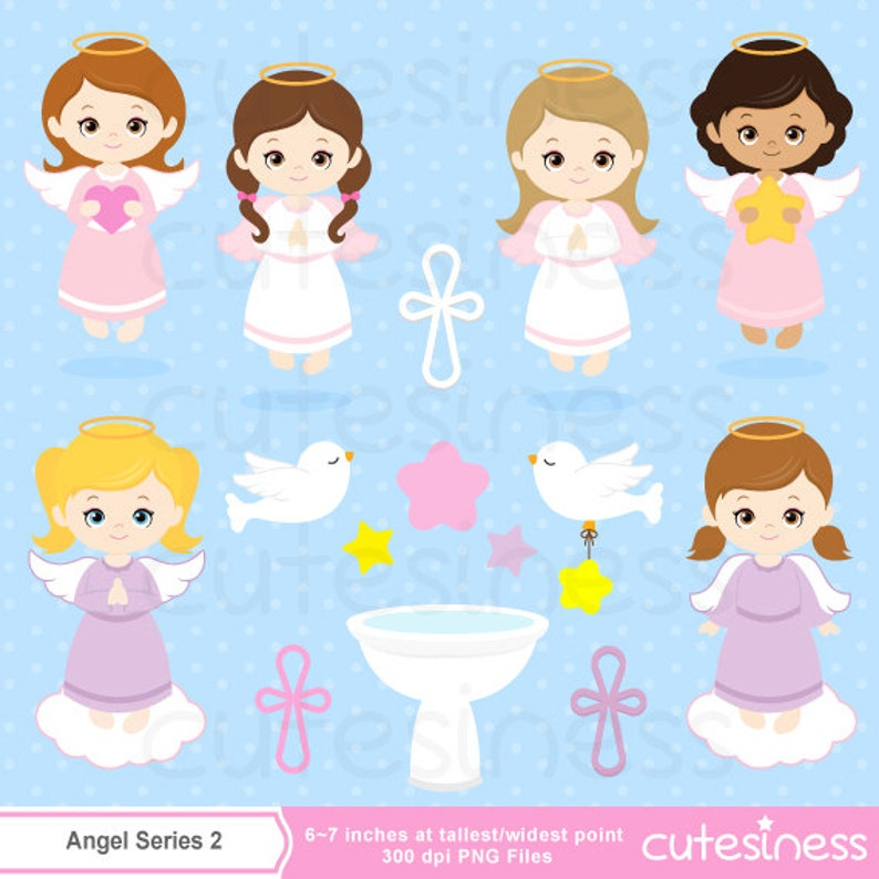 Angel clipart Baptism clipart baptism invitation cute angel  529f3fc21