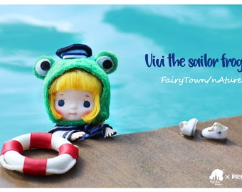 Fairytown 【 MIMIKO】Frog little sailor doll Vivi 【Production cycle is about 50 working days】