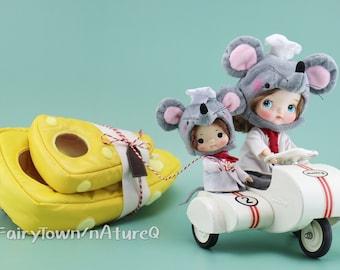 FairyTown Handmade Holala & Mimiko Cheese Mouse Chef Set  [Preorder]