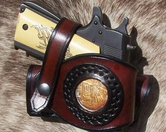 1947569b32d077 1911 Gunslinger 1 oz Silver slip Holster