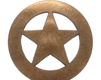 """Slotted Stamped Steel Concho Antique Copper 1-3//8/"""" 10 Pack 7015-10"""